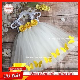 Váy công chúa cho bé 1 tuổi / 5 tuổi  Váy trắng cho bé gái