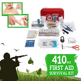 430x First Aid Kit Bag Emergency Outdoors Sports Camping Survival Kit SOS Tool