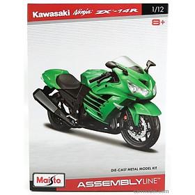 Đồ chơi mô hình MAISTO Đồ chơi xe mô tô lắp ráp Kawasaki Ninja ZX 14R 39197/MT39051AL
