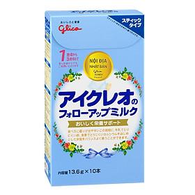 Combo 4 hộp 10 gói Sữa Glico Icreo Follow up Milk Stick Số 1 (13.6g) và đồ chơi tắm Toys House
