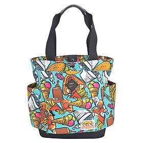 Túi Đeo Vai Họa Tiết Tote Bags - Waxed Cotton Stronger Bags S21_8 (37 x 35 cm)