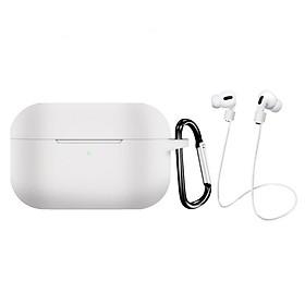 Bộ phụ kiện 3 món gồm vỏ bao silicon bảo vệ tai nghe Airpods Pro, dây nối chống mất chống rớt tai nghe, móc gắn balo, túi xách