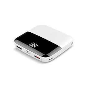 Pin Sạc Dự Phòng Mini Hỗ Trợ Sạc Nhanh 37Wh 10.000 mAh 2 cổng USB và 1 cổng Type-C -PowerBank US05(Siêu nhỏ gọn, Output 2 port USB & 1 port Type-C, công suất 37Wh, LED báo dung lượng) - Hàng Chính Hãng