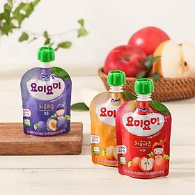 Combo 3 bịch nước ép trái cây hữu cơ Yummy Yummy nhập khẩu Hàn Quốc cho bé từ 4M (3 Vị tùy chọn)