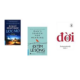 Combo 3 cuốn sách: Bí Quyết Để Đạt Được Ước Mơ + Đi Tìm Lẽ Sống + Học làm người - Nên thân với đời