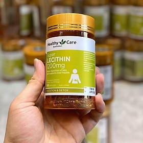 Viên uống tinh chất mầm đậu nành Healthy Care Super Lecithin mẫu mới Úc giúp giảm nám, tàn nhang, giúp da căng mọng, giảm khô hạn ở phụ nữ