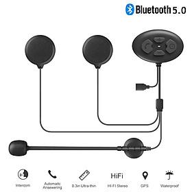Bluetooth 5.0 Headset Motorcycle Helmet Intercom Ip65 Waterproof 1000m Intercom Headset