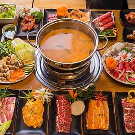 Hệ Thống Taka BBQ  - 1 Vé Buffet Premium Nướng & Lẩu Trưa / Tối Chuẩn Vị Hàn Quốc