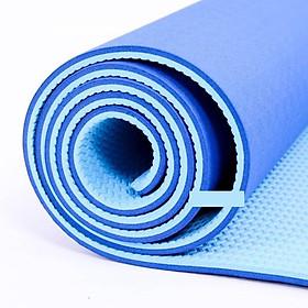 Thảm tập Yoga TPE 2 lớp cao cấp 6mm màu xanh dương