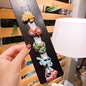 Set 10 dây cột tóc hoạt hình cute cho bé gái
