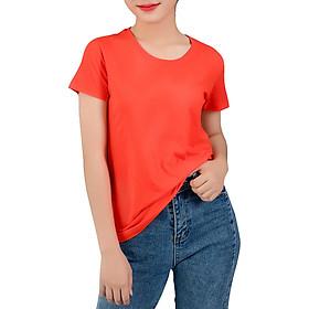 Áo thun nữ trơn màu cam mẫu 2 T&D