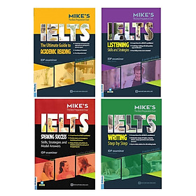 Combo Bộ Sách Luyện Thi Ielts Học Thuật - Bí Kíp Tự Học Ielts 8.0 ( Academic Ielts Mike ) (Tặng kèm Kho Audio Books)