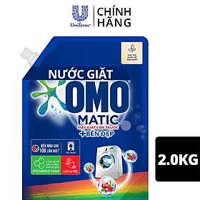 Nước giặt OMO Matic chuyên dụng Cửa Trước Bền Màu với tinh chất Lựu Tre 2.0kg