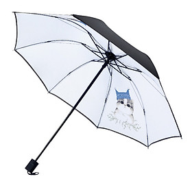 Creative Cartoon Female Vinyl Fabric Umbrella Anti-UV Umbrella Sunscreen Three-fold Umbrella