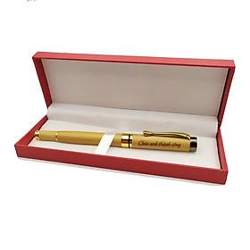 Bút gỗ cao cấp - chủ đề chúc Thành Công (kèm hộp sang trọng)
