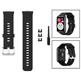 Soft Silicone Watch Band For Huawei Watch Fit TIA-B09 TIA-B19