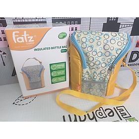 Tặng 02 pack đá gel - Túi giữ nhiệt bình sữa đôi Fatz FB2006SL