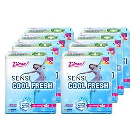 Combo 8 Gói Băng Vệ Sinh Diana Cool Fresh Siêu Mỏng (8 Miếng / Gói)