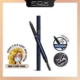 [TAIWAN] Chì Kẻ Mày Đầu Tam Giác F.O.X ( Kèm ngòi ) Triangular Eyebrow With Mascara Brush 0.25g