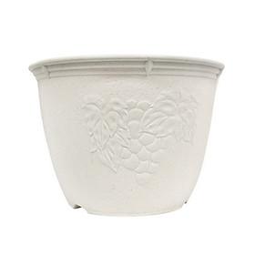 Chậu hoa tròn màu trắng 24cm nội địa Nhật Bản