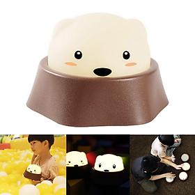 Cute Playing Hamster Night Light USB Charging Pat Lamp
