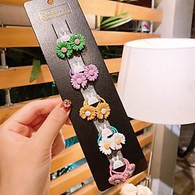 Set 10 dây buộc tóc cho bé gái Hoa Cúc nhiều màu