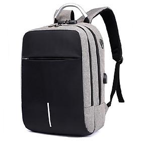 Balo laptop thời trang nam nữ, balo học sinh đi học siêu nhẹ chống nước, có mã khóa và cổng sạc USB, balo giặt được máy giặt