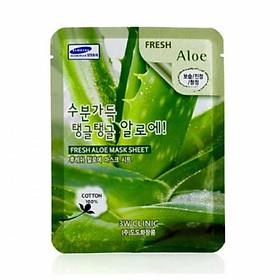 Combo Mặt Nạ Dưỡng Ẩm Da Chiết Xuất Nha Đam 10 Gói 3W Clinic Fresh Aloe Mask Sheet (23ml X 10)