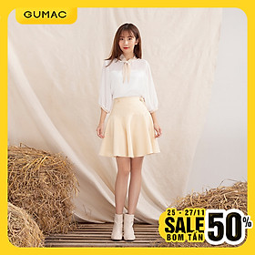 Váy nữ VA10118 GUMAC thiết kế rã xòe 2 nút