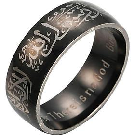 Nhẫn Trang Sức In Chữ Hồi Giáo Cho Nam Và Nữ