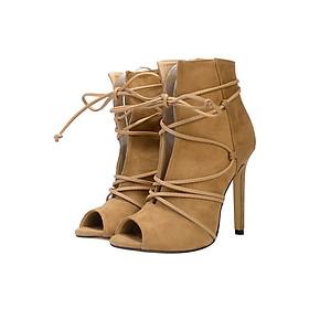 Giày Boot Nữ GB68 - Nâu