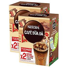 Combo 2 Hộp Cà Phê Sữa NESCAFÉ Cà Phê Sữa Đá (Hộp 10 Gói x 24g)