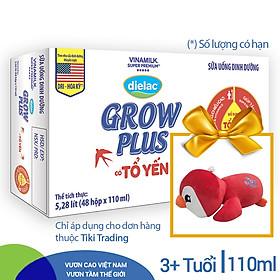 Thùng 48 Hộp sữa bộ pha sẵn Dielac Grow Plus có tổ yến 110ml