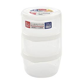 Bộ 3 Hộp Nhựa Tròn Đựng Thực Phẩm 180ml _ Nội Địa Nhật