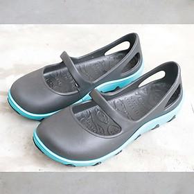 Giày Thái Lan Nữ  - Đen đế xanh - Giày Nhựa Chuyên Dụng Đi Mưa Thời Trang, Chống Trơn Trượt