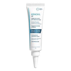 Kem Dưỡng Cân Bằng Dầu Giảm Viêm Mụn Ducray Keracnyl Pp Anti-Blemish Soothing Cream (30ml)