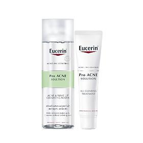 Combo Tinh Chất Giảm Mụn Eucerin Proacne A.I Clearing Treatment 40ml - Nước Tẩy Trang Se Khít Lỗ Chân Lông Ngừa Mụn 200ml