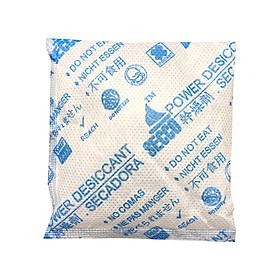 Gói hút ẩm Secco silica gel 50gr - 1kg(20 gói) - bảo quản thiết bị điện tử, máy ảnh không ẩm móc - Chính hãng - Vải trắng - Chữ to xanh 2 mặt.