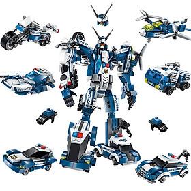 Đồ chơi xếp hinh - Đồ Chơi giao dục thông minh - Đồ chơi lắp ráp Bộ xếp hình Lego mô hình siêu nhân robot từ khủng long XANH trí tuệ 6 trong 1 cho bé thích khám phá