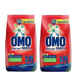 Combo 2 gói bột giặt Omo đỏ ( 1.2kg / gói )