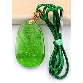 Hình đại diện sản phẩm Vòng cổ Hư Không Tạng pha lê xanh lá 3.6 cm DXFBXL6 - Phật hộ mệnh cho người tuổi Sửu, Dần