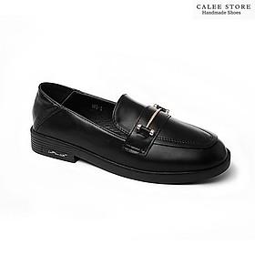 ẢNH THẬT VIDEO MỚI VỀ Giày Moca Loafer bệt văn phòng giày lười da mềm nữ 3cm có sẵn đen nâu