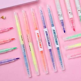 Bút highlight 2 đầu nhiều màu, bút nhớ pastel (set 3 và set 6)