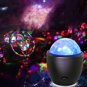 LED Vehicle Crystal Magic Ball Light Night Lamp with Voice Control for Home KTV Bar Car Supplies