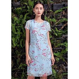 Đầm Xanh Phủ Tơ, Giả Áo Sơ Mi Dài TosonFashion 44045X528