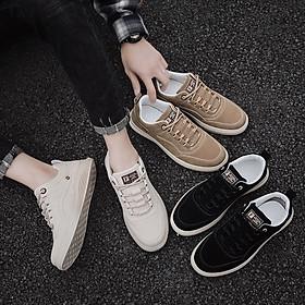 Giày Nam, Giày Sneaker Thấp Cổ Da Cao Cấp 2021