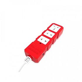 Ổ cắm công suất lớn Điện Quang ĐQ ESKHP 3RW 5M (3 lỗ, màu đỏ trắng, dây dài 5m)