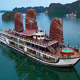 Tận Hưởng Kỳ Trăng Mật Lãng Mạn Trên Du Thuyền Ngủ Đêm Orchid Cruises Tại Vịnh Hạ Long (Trọn Gói Tour 2N1Đ, Ăn 04 Bữa, Chèo Thuyền Kayak, Câu Mực Đêm, Hát Karaoke)