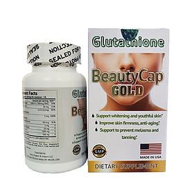 Viên uống trắng da BeautyCap Gold bổ sung Glutathione & Collagen AEC B5 giúp sáng da chống lão hóa hộp 60 viên