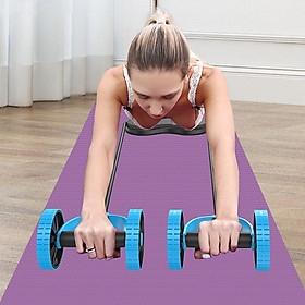 Rebound Abdominal Wheel Muscle Wheel Fitness Equipment Machine with Stretching Pull Rope Hassock Kneeling Pad for for-5